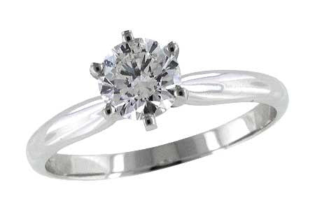 14k White Gold Engagement Ring T7257