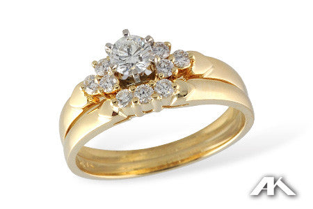 14k Yellow Gold Wedding Set S8035