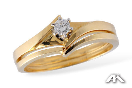 14k Yellow Gold Wedding Set S7719