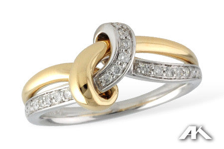 14k Two tone Diamond Ring D5498