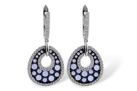 E1666 1.25ct Sapphire and Diamond Earrings