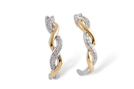 14k Diamond Earrings E1707