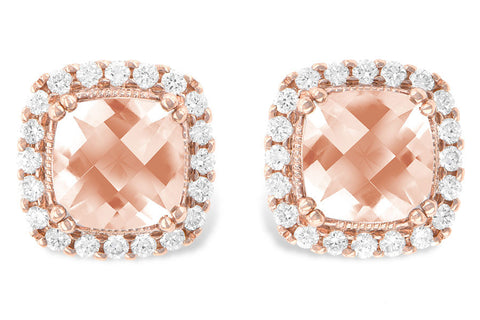 14k Rose Gold Morganite Earrings E1719