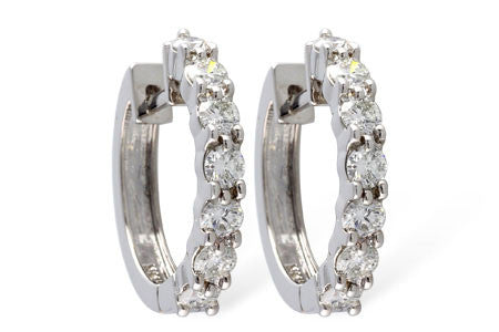 ER104-150 1.50ct White Gold Huggies