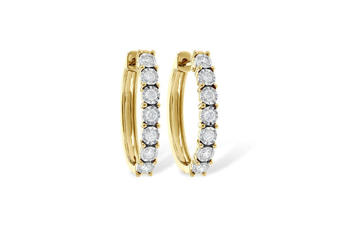 ER809-50Y .50ct Yellow Gold Earrings