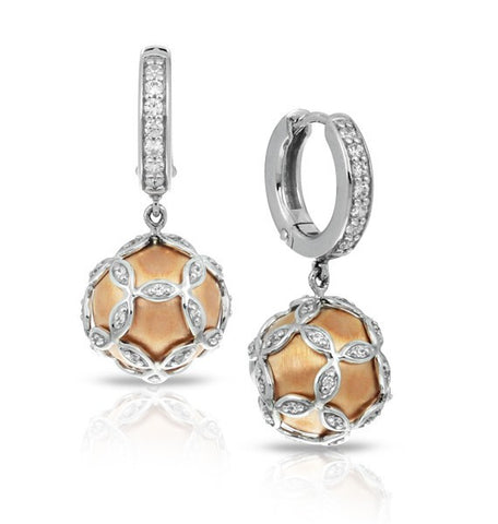 Vienna SS CZ Pearl Earrings 241014