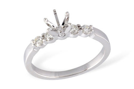 14k White Gold Engagement Ring Semi Mount LR125-20