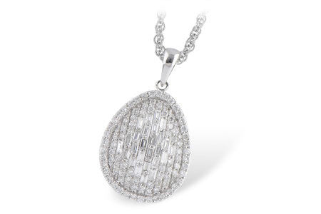14k White Gold and Diamond Pendant N7871