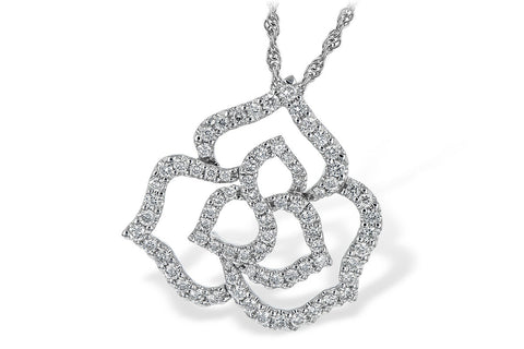 N7952 Diamond Pendant in 14k White Gold