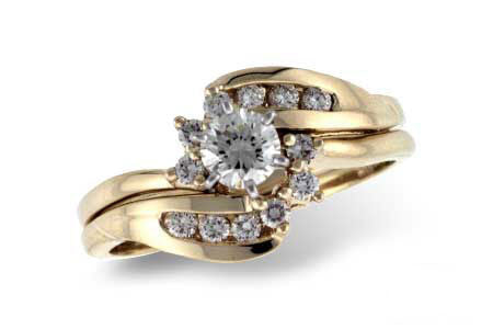 14k Yellow Gold Wedding Set s7674