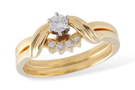 14k Yellow Gold Wedding Set S7916