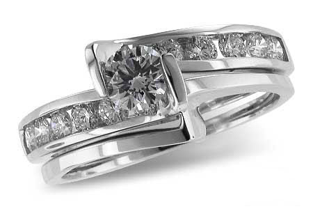 14k White Gold Engagement Set S8009