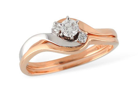 14k Rose Gold Wedding Set S8170