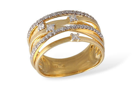 14k Yellow Gold and Diamond Ring W1981