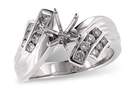 X16698 14k White Gold Semi Mount