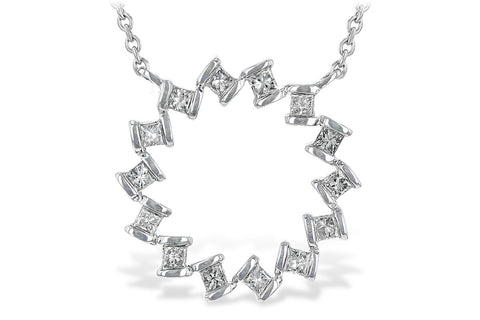 X20240 14k White Gold Diamond Necklace