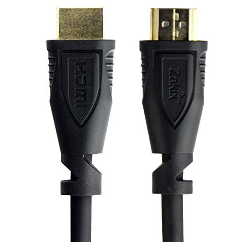 Zakix 2 Pack/3FT, Premium High-Speed & Certified HDMI 2.0 Cable - 3 Feet, Supports Ethernet, 3D, 4K and Audio Return, 18 months warranty