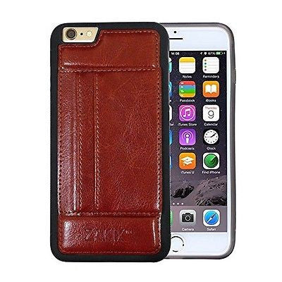 Zakix Premium PU Leather iPhone 6s/6 Wallet Case w/ 2 Credit Card Slots & Kic...