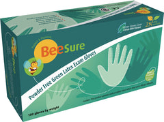 BeeSure Powder Free Latex Green Mint