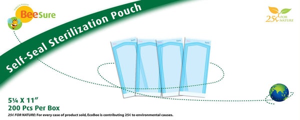 "Self-Seal Sterilization Pouch 5 1/4"" x 11"""