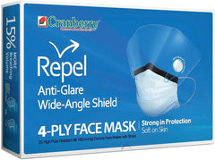 Cranberry Repel 4-PLY Anti-Fog with Shield