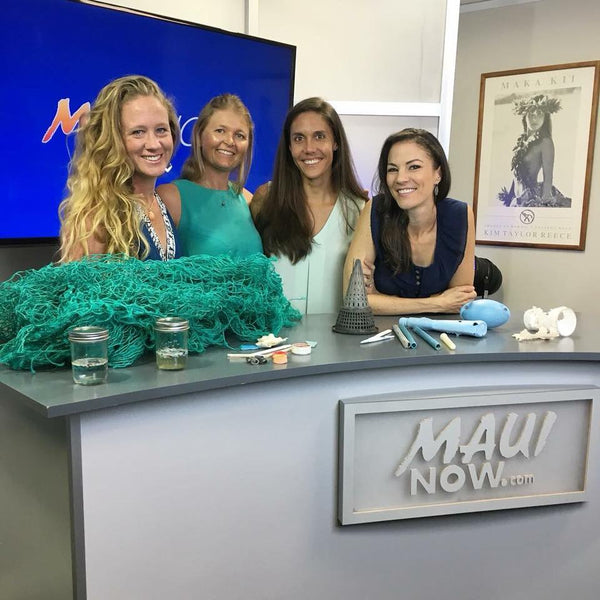 Maui Now Features Manakai Swimwear Owners Kelley Chapman and Anna Lieding for their Beach Cleanup on Earth Day
