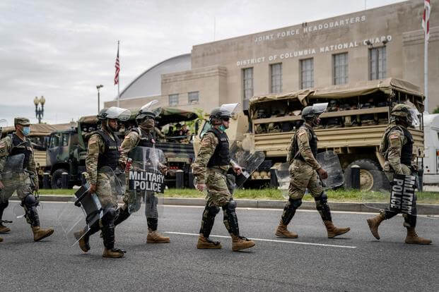 D.C ACTIVATES CITY'S NATIONAL GUARD AHEAD OF PROTESTS