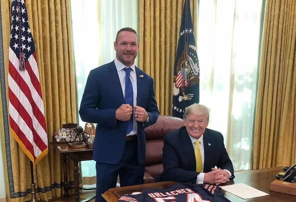 CASEY URLACHER, BROTHER OF HALL OF FAMER BRIAN URLACHER PARDONED BY TRUMP
