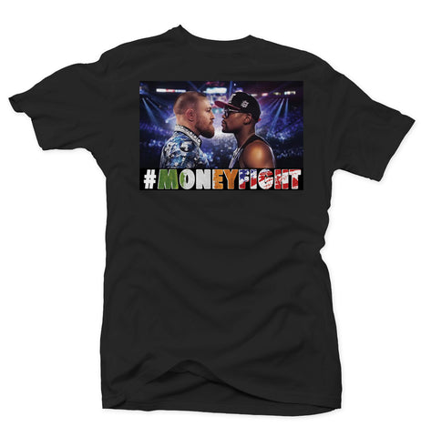 Mayweather Vs McGregor - #MoneyFight - Black Tee