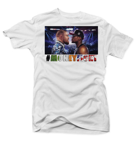 Mayweather Vs McGregor - #MoneyFight - White Tee