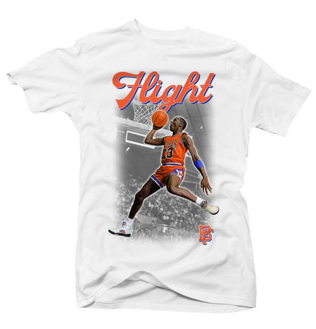 MJ Flight  - White Tee