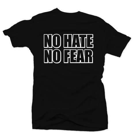 No Hate, No Fear - Black/White Tee