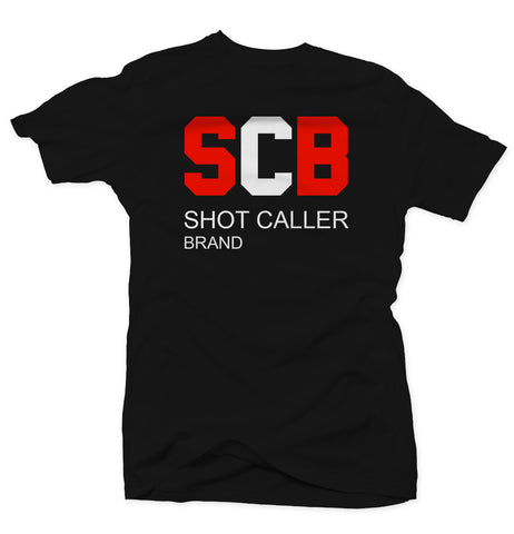 Shot Caller Brand - Black/Red Tee