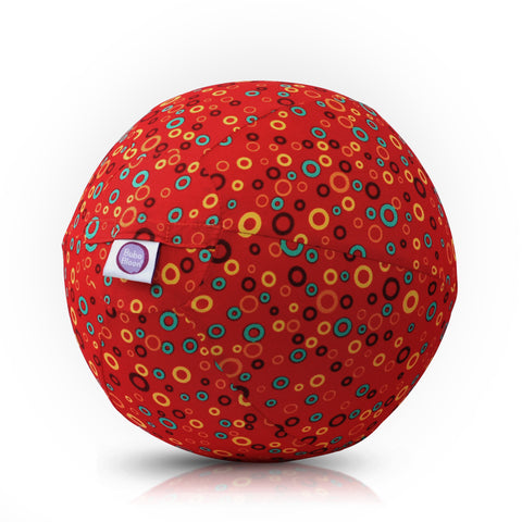 BubaBloon Circles Print - Red