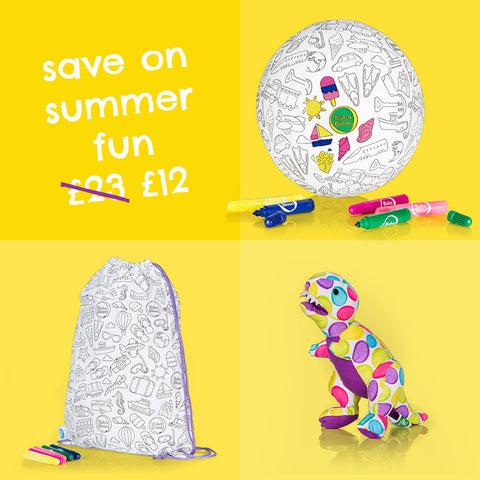 Summer Special - Colour in Bloon, Saur & Bag