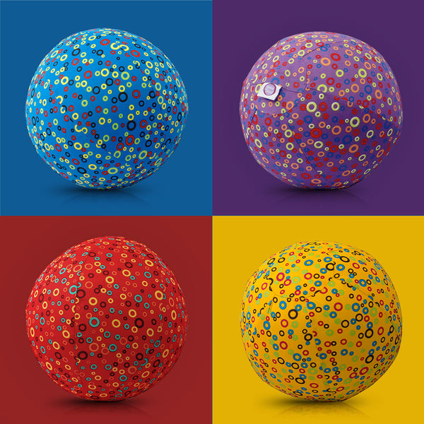 BubaBloon FootBall Mad Colourful Circles Multi-Pack