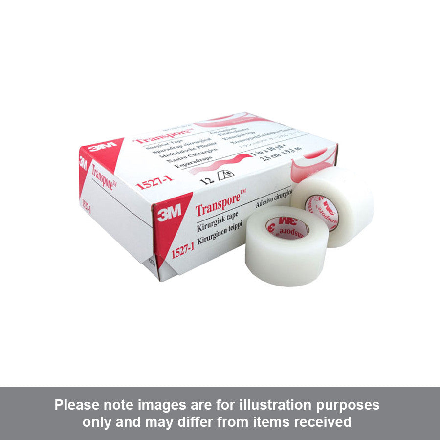 3M Transpore White Surgical Tape 1527-1 - Pharmacy4Life