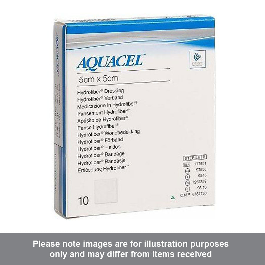 Aquacel Ag Hydrofiber Ribbon Dressing 5cm x 5cm - Pharmacy4Life