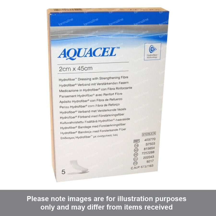 Aquacel Ag Hydrofiber Ribbon Dressing 2cm x 45cm - Pharmacy4Life