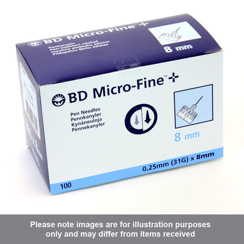BD Microfine Plus Pen Needles 8mm