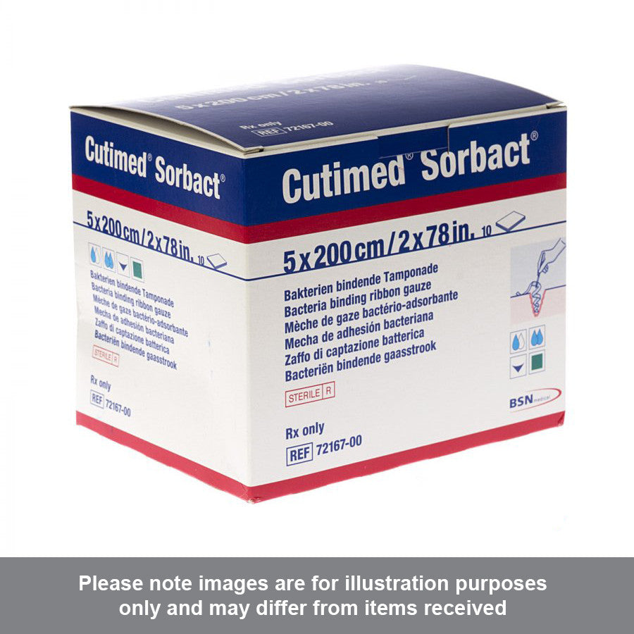 Cutimed Sorbact Dressing 5cm x 200cm Pack of 10 - Pharmacy4Life