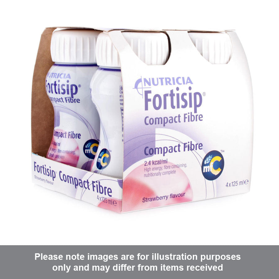 Fortisip Compact Fibre Feeding Supplement Strawberry Flavour - Pharmacy4Life