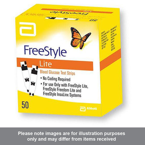 Freestyle Lite Blood Glucose Test Strips Box of 50