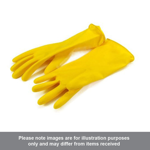 Household Yellow Rubber Gloves Medium