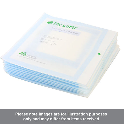 Mesorb Absorbent Dressing 10cm x 15cm pack of 10 - Pharmacy4Life