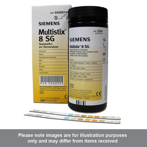 Siemens Multistix 8 SG Urine Reagent Test Strips