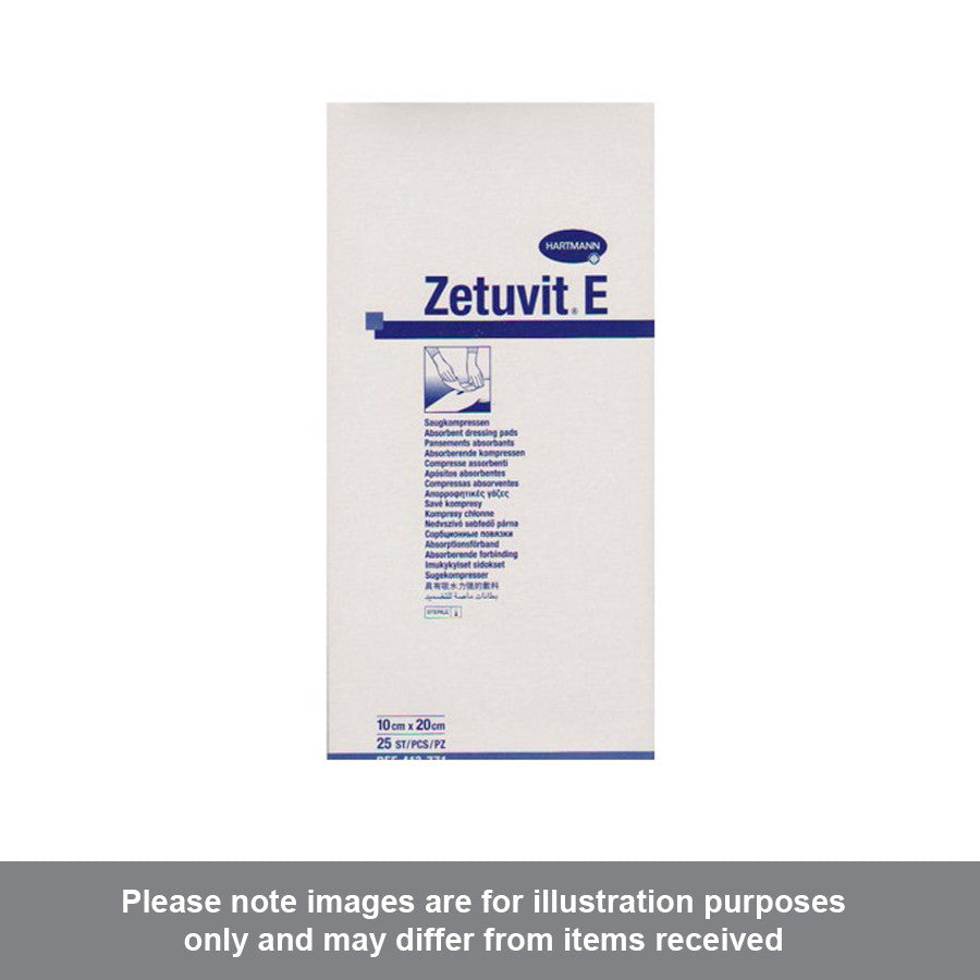 Zetuvit E Sterile 10cm x 20cm Pack of 25 - Pharmacy4Life