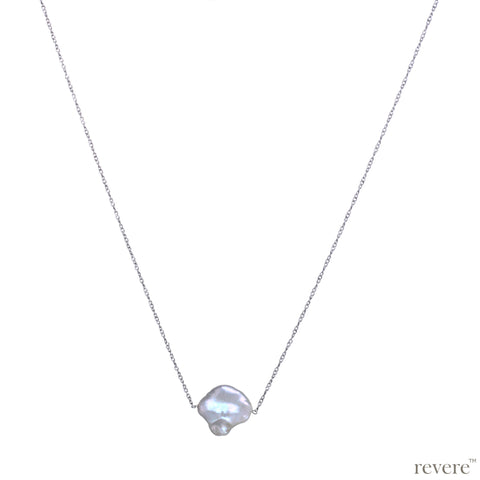 Dew Drop Necklace | Keshi Pearl | Sterling Silver