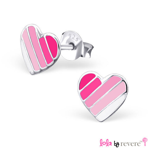 I Love Pink Earrings | Sterling Silver