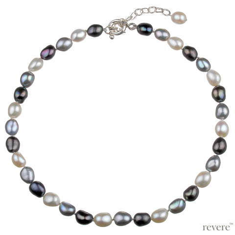 Emanate Necklace | Baroque Pearl | Sterling Silver